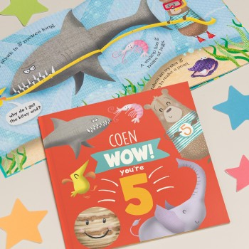 """""""Wow You Are Five"""" Personalized Children's 5th Birthday Book"""