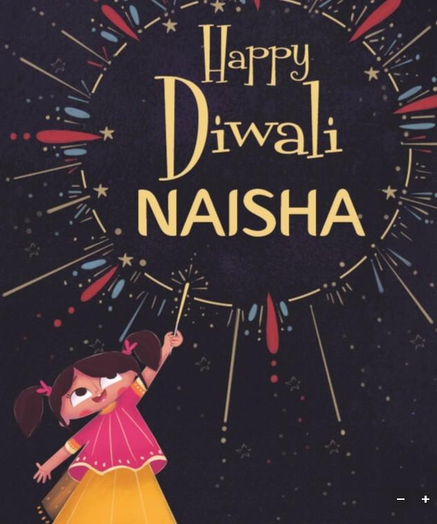 """Happy Diwali 'Girl's Name'...."" Personalized Diwali Book"