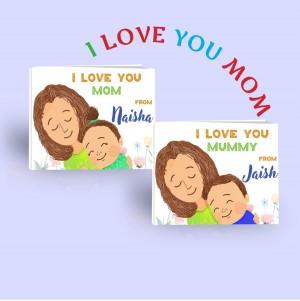"""""""I Love You Mom"""" Children's Book - Upto 2 Children"""