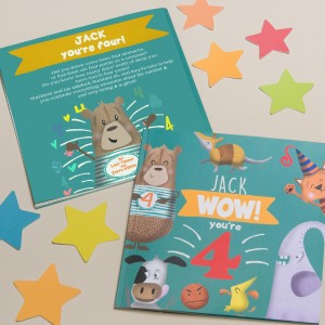 """Wow You Are Four"" Children's Birthday Book"