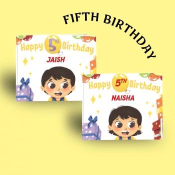 """Happy 5th Birthday"" Personalised Birthday Book"