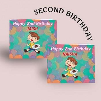 """Happy 2nd Birthday"" Personalised Birthday Book"
