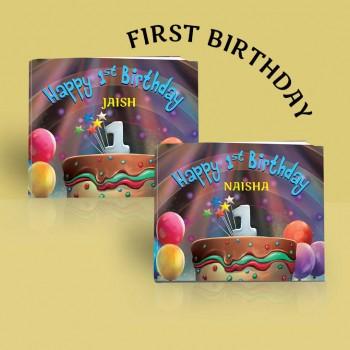 """Happy 1st Birthday"" Personalised Birthday Book"