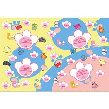 """Cutey Cats"" Personalized Gift Wrapping Paper"