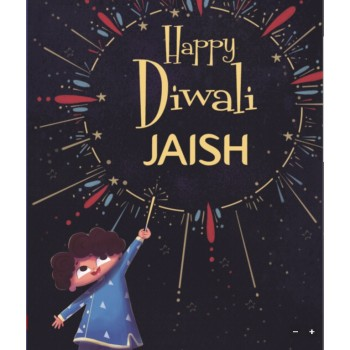 """Happy Diwali 'Boy's Name'...."" Personalized Diwali Book"