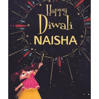 """Happy Diwali 'Girl's Name'...."" Personalized Diwali Book"