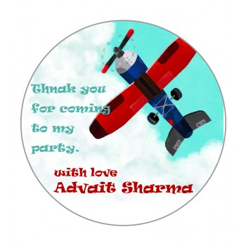 """Aeroplane"" Gift Label (Set of 30)"