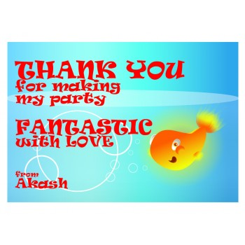 """Goldfish"" Gift Label (Set of 30)"