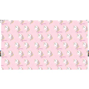 """Unicorn"" Personalized Gift Wrapping Paper"