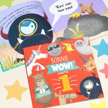 """Wow You Are One"" Children's Birthday Book"