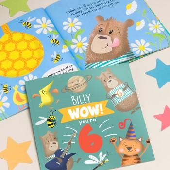 """Wow You Are Six"" Children's Birthday Book"