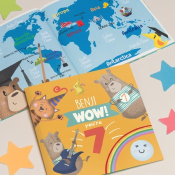 """Wow You Are Seven"" Children's Birthday Book"