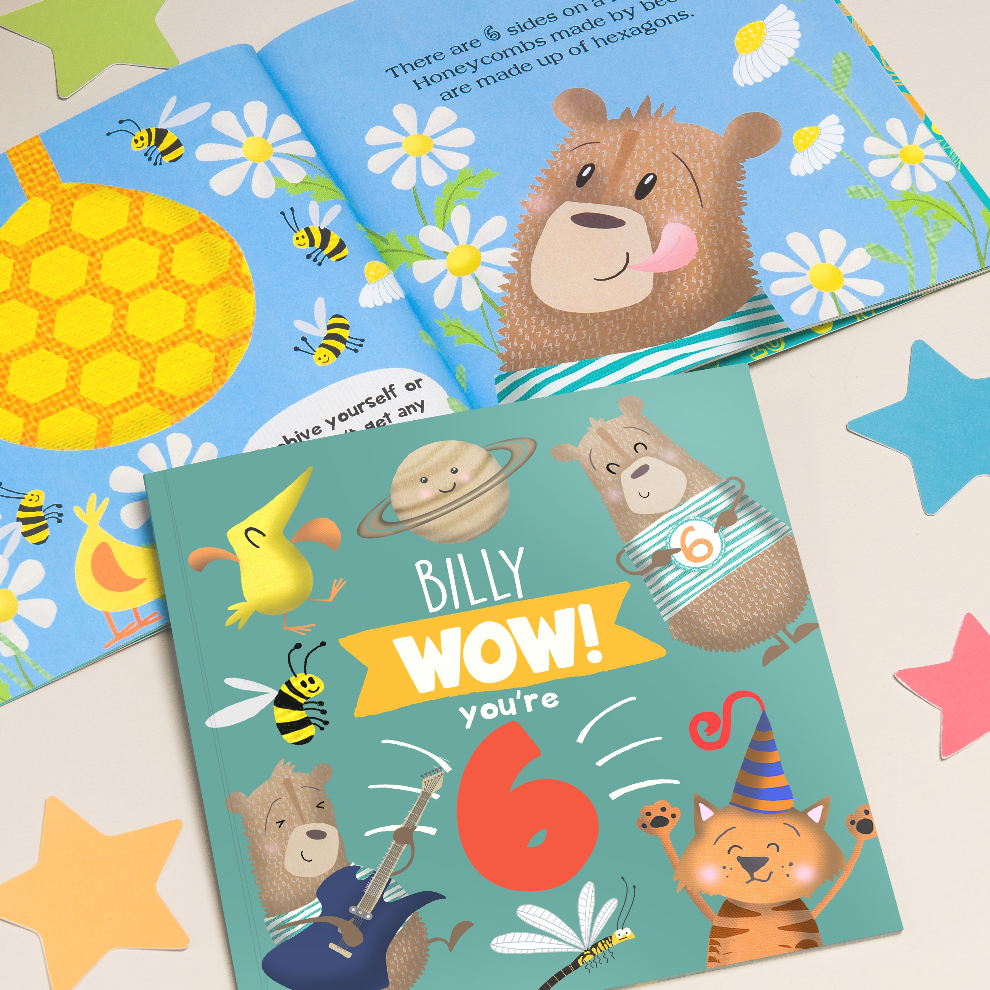 """""""Wow You Are Six"""" Children's Birthday Book"""