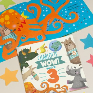 """Wow You Are Three"" Children's Birthday Book"