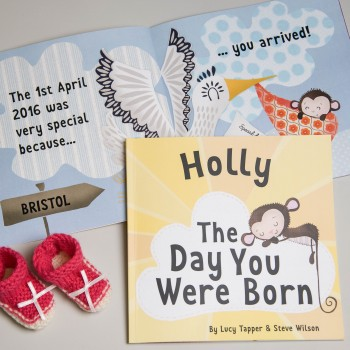 """The Day You Were Born"" Baby Book"