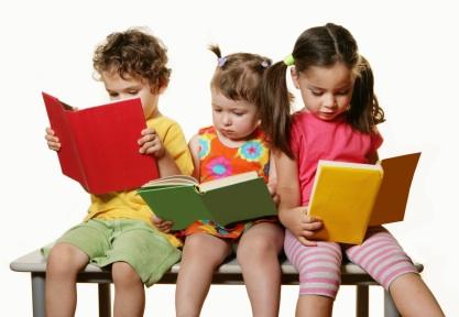 3 Kids Reading Books